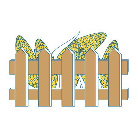 フレッシュコーン穂軸ベクターイラストデザインのフェンス