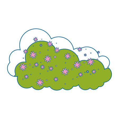 bush garden isolated icon vector illustration design Illustration