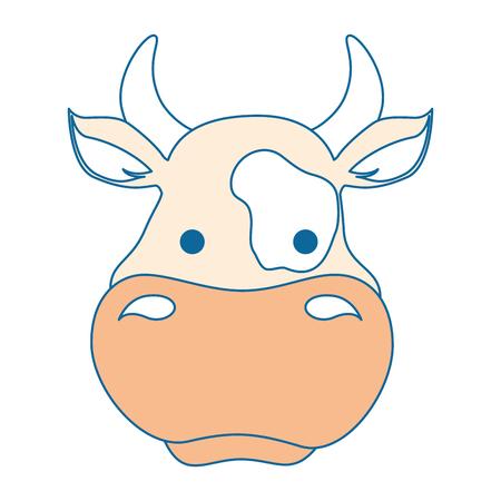 Boerderij koe geïsoleerd pictogram vector illustratie ontwerp Stockfoto - 85025531