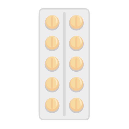 pills tablets isolated icon vector illustration design Illustration