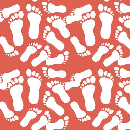 Impression de pied modèle fond vector illustration design Banque d'images - 85025831