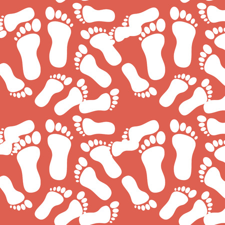 Van het achtergrond voetdrukpatroon vectorillustratieontwerp Stock Illustratie