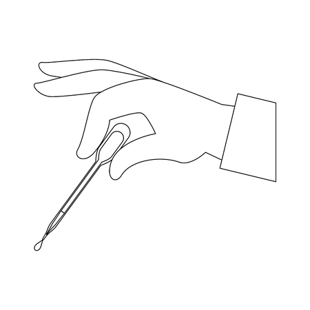 Hand with Dropper for urine test vector illustration design