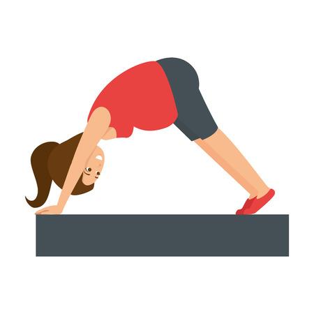 Mujer embarazada hacer ejercicios de profilaxis diseño de ilustración vectorial Foto de archivo - 85025841