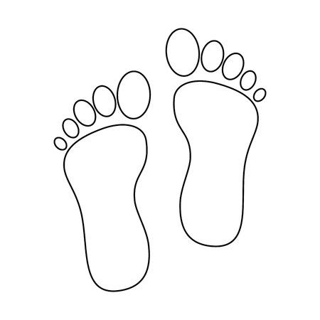 Ontwerp van de voetafdruk het geïsoleerde pictogram vectorillustratie