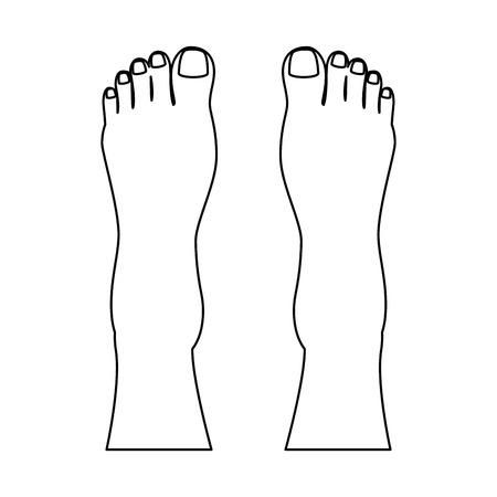 Human feet isolated icon vector illustration design Stock fotó - 85025860