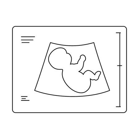 赤ちゃん超音波分離アイコン ベクトル イラスト デザイン  イラスト・ベクター素材