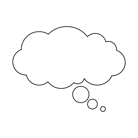 夢雲のアイコン ベクトル イラスト デザインを分離しました。  イラスト・ベクター素材