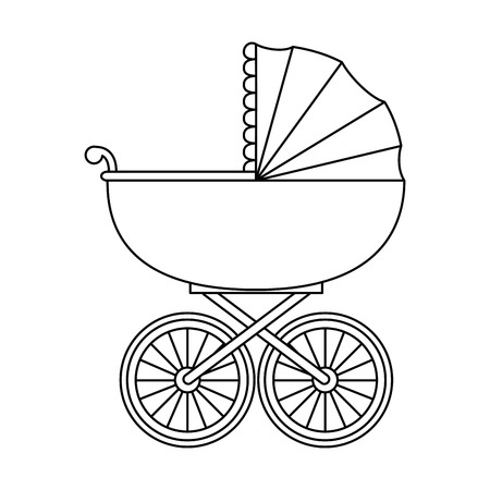 baby cart isolated icon vector illustration design Ilustracja