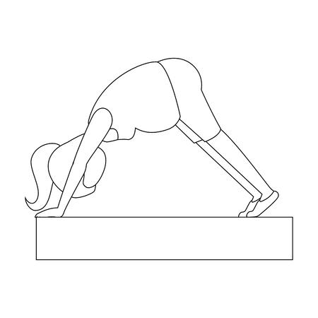 Mujer embarazada hacer ejercicios de profilaxis diseño de ilustración vectorial Foto de archivo - 85025643