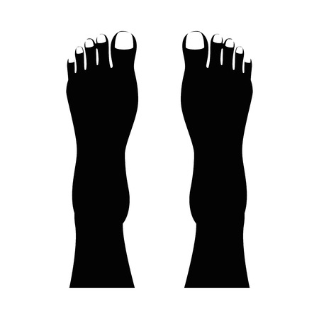 Human feet isolated icon vector illustration design Stock fotó - 85025826