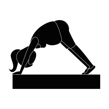 Mujer embarazada haciendo ejercicios de reanimación ilustración vectorial de diseño Foto de archivo - 85025877