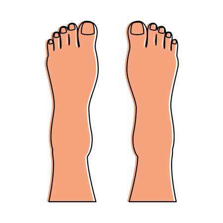 Human feet isolated icon vector illustration design Stok Fotoğraf - 85025895