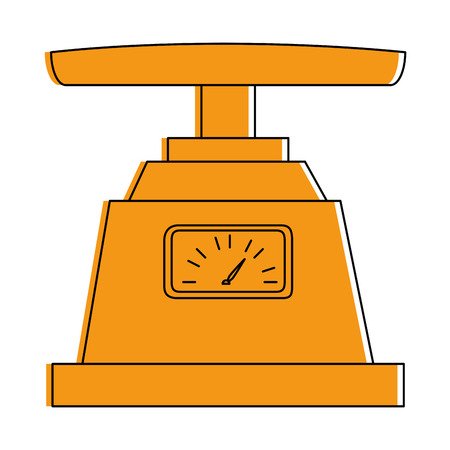 Gram measure scale icon vector illustration design