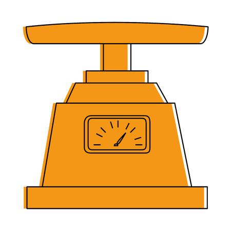 Gram measure scale icon vector illustration design