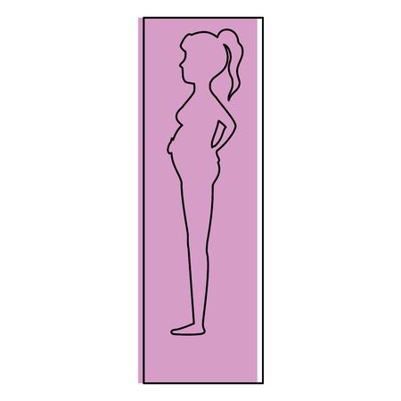 woman pregnant silhouette icon vector illustration design