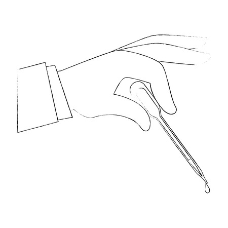 hand with Dropper for urine test vector illustration design