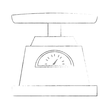 gramer measure scale icon vector illustration design