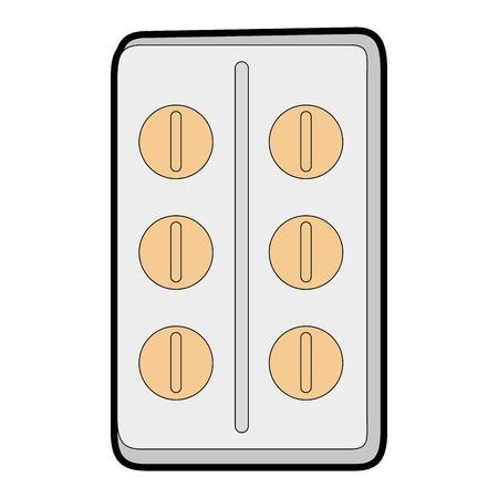 pills tablets isolated icon vector illustration design Иллюстрация