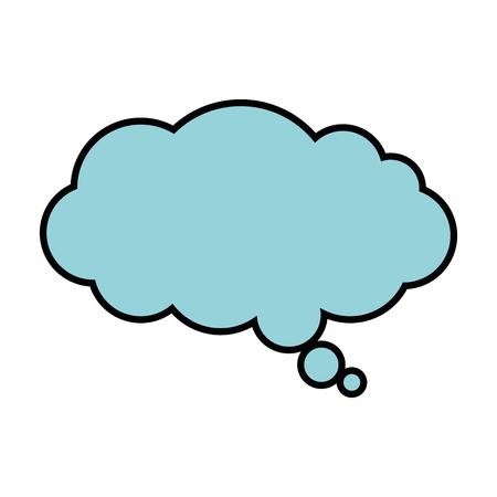 droom wolk geïsoleerd pictogram vector illustratie ontwerp Stock Illustratie