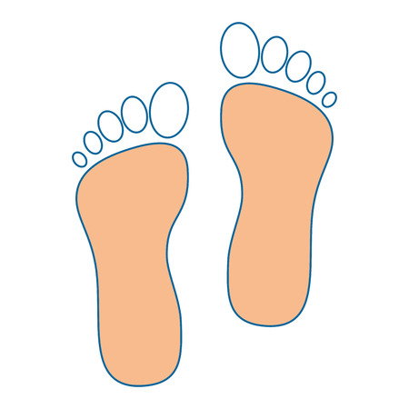 foot print isolated icon vector illustration design 向量圖像