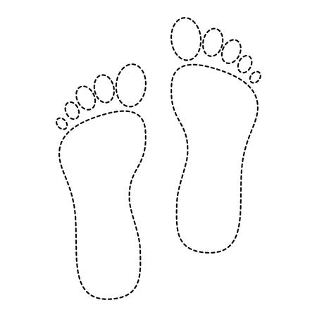 발 인쇄 격리 된 아이콘 벡터 일러스트 레이 션 디자인