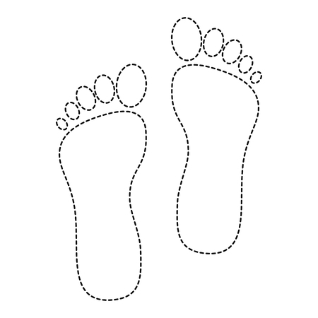 Pie de pie aislado icono de ilustración vectorial de diseño Foto de archivo - 85027252