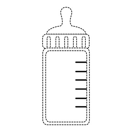 Bottle milk baby icon vector illustration design