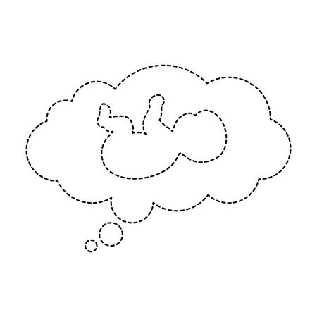 dream cloud with baby vector illustration design