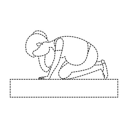 Mujer embarazada hacer ejercicios de profilaxis diseño de ilustración vectorial Foto de archivo - 85031006