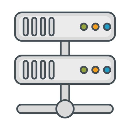 Server-Rechenzentrum-Ikonenvektor-Illustrationsdesign Standard-Bild - 85026728