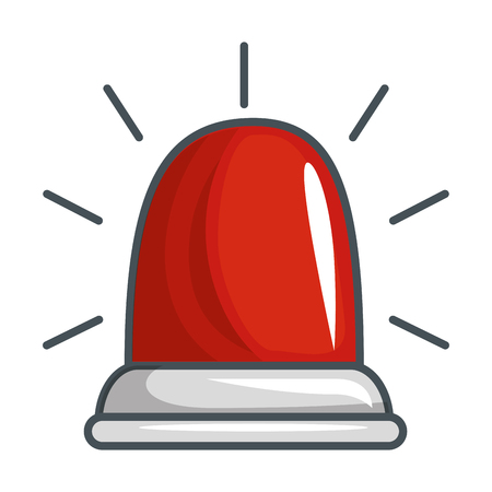 emergency light isolated icon vector illustration design Ilustração