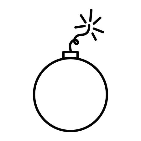Explosión explosión aislado icono diseño de ilustración vectorial Foto de archivo - 85042355