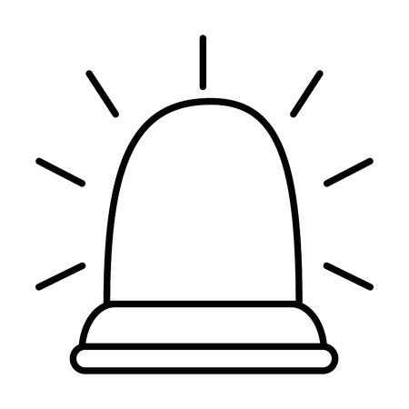 Luz de emergencia aislado icono diseño de ilustración vectorial Foto de archivo - 85042356