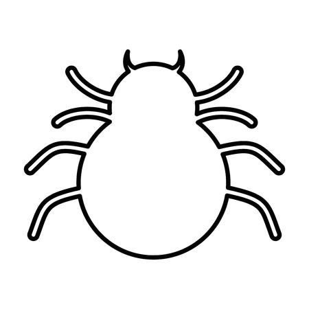 거미 실루엣 격리 된 아이콘 벡터 일러스트 레이 션 디자인