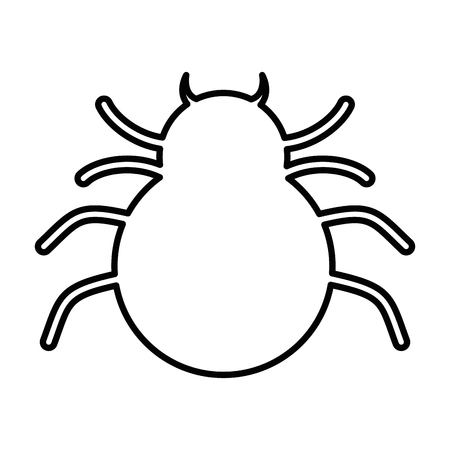 spider silhouette isolated icon vector illustration design