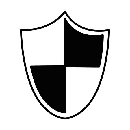 shield security isolated icon vector illustration design Ilustração