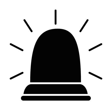 Luz de emergencia aislado icono diseño de ilustración vectorial Foto de archivo - 85030614