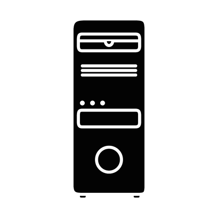 tower computer isolated icon vector illustration design