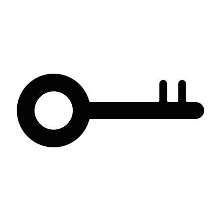 key old isolated icon vector illustration design