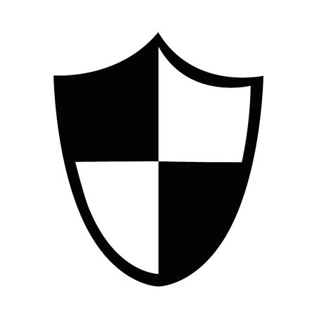 Seguridad escudo aislado icono de ilustración vectorial de diseño Foto de archivo - 85030675