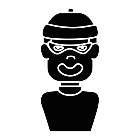 Thief avatar character icon vector illustration design