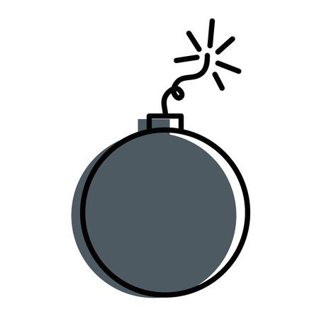 explosive boom isolated icon vector illustration design