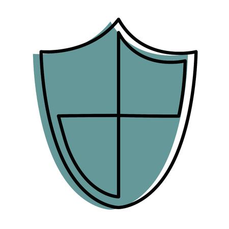 シールドセキュリティ分離アイコンベクトルイラストデザイン  イラスト・ベクター素材
