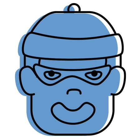 estereotipo: thief avatar character icon vector illustration design