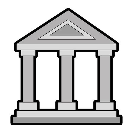 building with columns icon vector illustration design 版權商用圖片