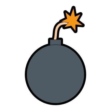 Diseño aislado del ejemplo del vector del icono del auge explosivo Foto de archivo - 85028589