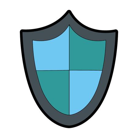 La seguridad escudo aislado icono de ilustración vectorial de diseño Foto de archivo - 85029973