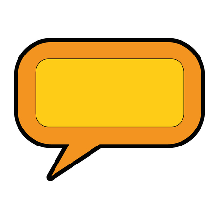 Speech bubble message icon vector illustratie ontwerp