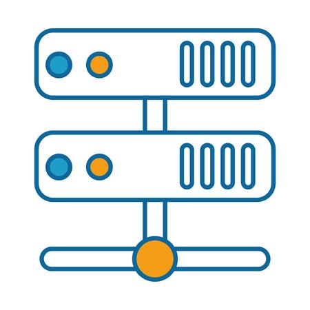 Server-Rechenzentrum-Ikonenvektor-Illustrationsdesign Standard-Bild - 85029987